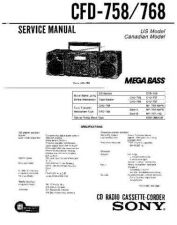 Buy Sony CFD-770 Service Manual by download Mauritron #238767