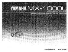Buy YAMAHA MX-1000U Manual by download Mauritron #230544