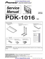 Buy Pioneer PDK-5001 Service Manual by download Mauritron #234691