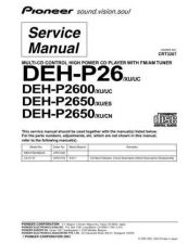 Buy Pioneer DEH-P265012 Service Manual by download Mauritron #233556