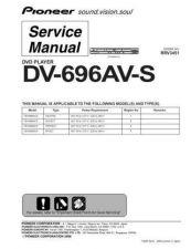 Buy Pioneer dv-696av-k-2 Service Manual by download Mauritron #234337