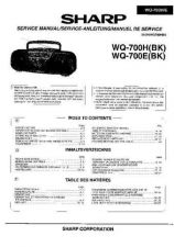 Buy Sharp. WQ700-001 Service Manual by download Mauritron #211786