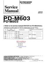 Buy PIONEER PDM503 PDM603 RRV1071 Technical Information by download #119338