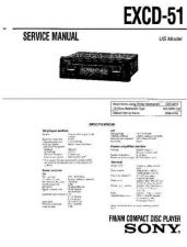 Buy Sony EXCD-51 Service Manual by download Mauritron #240635