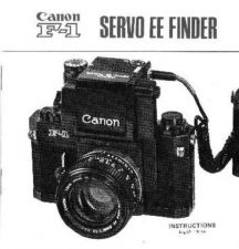 Buy CANON F1SERVOEEFINDER FD CAMERA INSTRUCTIONS by download #118444