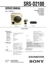 Buy Sony SRS-D2100 Service Manual by download Mauritron #233158
