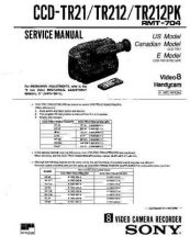 Buy Sony CCD-TR21-TER212-TR212PK Service Manual by download Mauritron #237090