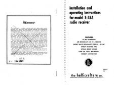 Buy HALLICRAFTERS S38A OPM Technical Information by download #115328