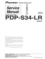 Buy Pioneer PDP-S53-LR Service Manual by download Mauritron #235184