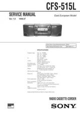 Buy Sony CFS-515S Service Manual by download Mauritron #238923
