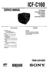 Buy Sony ICF-C160 Service Manual. by download Mauritron #241525