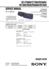 Buy Sony SS-CT60AVCT70AVRC60AV Service Information by download Mauritron #238101
