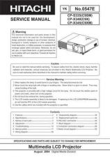 Buy Hitachi CP-X940WB ES Manual by download Mauritron #224878