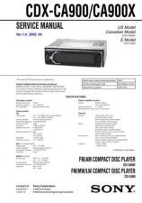 Buy Sony CDX-CCDX-CA900CA900X........A900CA900X. Service Manual by download Mauritr