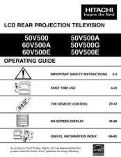 Buy Hitachi 50V500 50V500A Service Manual by download Mauritron #262946