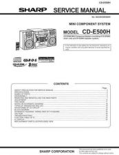 Buy Sharp CDE500H Service Manual by download Mauritron #208604