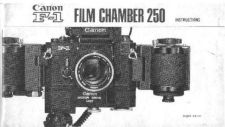 Buy CANON 250FILMCHAMBER FD CAMERA INSTRUCTIONS by download #118397