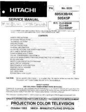 Buy Hitachi 50SBX70B-2 Service Manual by download Mauritron #262901