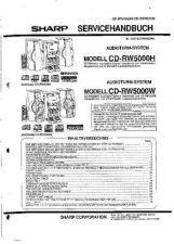 Buy Sharp CDRW5000H-W SM DE Service Manual by download Mauritron #208663