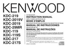 Buy Kenwood KDC-219 Operating Guide by download Mauritron #221523
