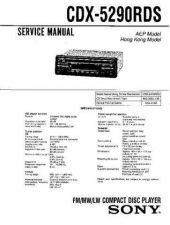 Buy Sony CDX-5290RDS-2 Service Manual by download Mauritron #231700