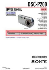 Buy Sony DSC-P30P50 Service Manual by download Mauritron #240233