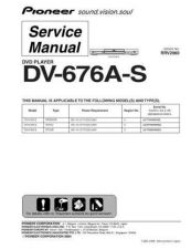 Buy Pioneer dv-676a-s-1 Service Manual by download Mauritron #234323