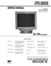 Buy Sony CPD-200GS Service Manual by download Mauritron #239271