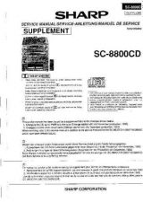 Buy Sharp SC800CD SM SUPPLEMENT GB-DE-FR(1) Service Manual by download Mauritron #