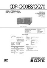 Buy Sony CDP-CX70SE-CX255 Service Manual by download Mauritron #237345