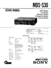 Buy Sony MDS-S30 Service Manual by download Mauritron #232220