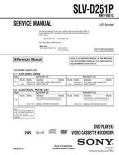 Buy Sony SLV-D261P Technical Information by download Mauritron #235826