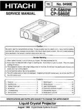 Buy Hitachi CP-X260 Service Manual by download Mauritron #261025