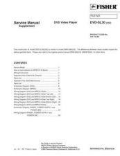 Buy Fisher DVD-X5-03 Service Manual by download Mauritron #215639
