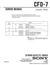 Buy Sony CFD-7 Service Manual by download Mauritron #238759