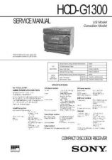 Buy Sony HCD-G1300 Service Information by download Mauritron #237824