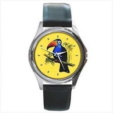 Buy Toucan Bird Retro Style Unisex Round Wrist Watch
