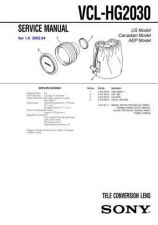 Buy Sony VCL-HG2030 Service Manual by download Mauritron #241876