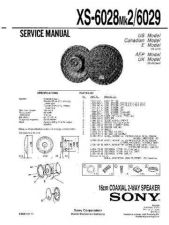 Buy Sony XS-6028MK2-6029 Service Manual. by download Mauritron #246297