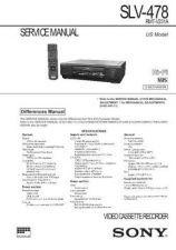 Buy Sony SLV-478 Technical Manual. by download Mauritron #243895