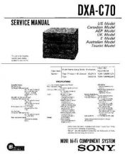 Buy Sony DXA-C70 Service Manual by download Mauritron #240551