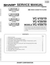 Buy Sharp VCV10-19 Service Manual by download Mauritron #231520