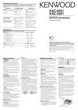 Buy Kenwood KAC-6201 by download Mauritron #221310