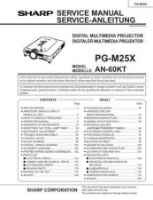 Buy Sharp PGM25X Service Manual by download Mauritron #210179