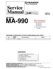 Buy PIONEER MA990 TRT1121 Technical Information by download #119314