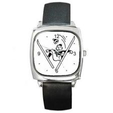 Buy Skiing Man Falls Ski Retro Art New Wrist Watch