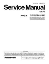 Buy Hitachi CF-WEB081AK Service Manual by download Mauritron #263496