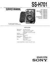Buy Sony SS-H701 Service Information by download Mauritron #238116