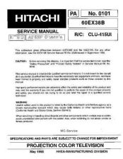 Buy Hitachi HITACHI-60EX38B Manual by download Mauritron #225207