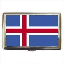 Buy Iceland Flag Cigarette Money Wallet Credit Card Case